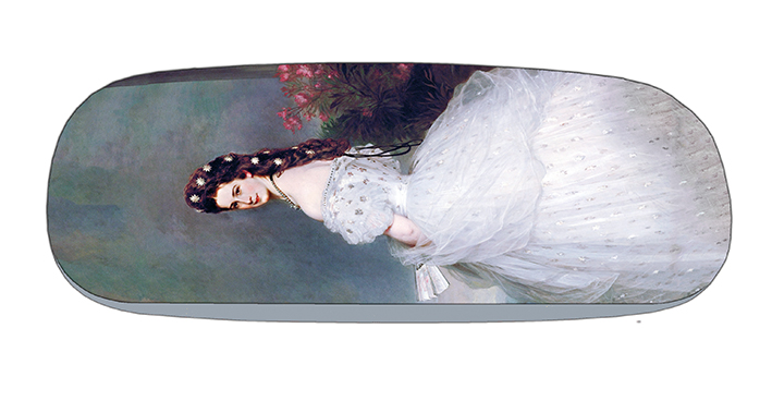 Eyeglasses Case with CC, Winterhalter, Empress Elisabeth