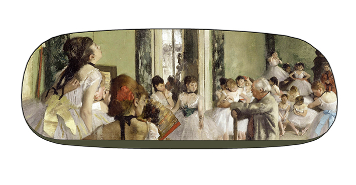 Eyeglasses Case with CC, Degas, Ballet Class
