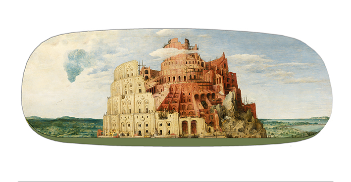 Eyeglasses Case with CC, Bruegel, Tower of Babel