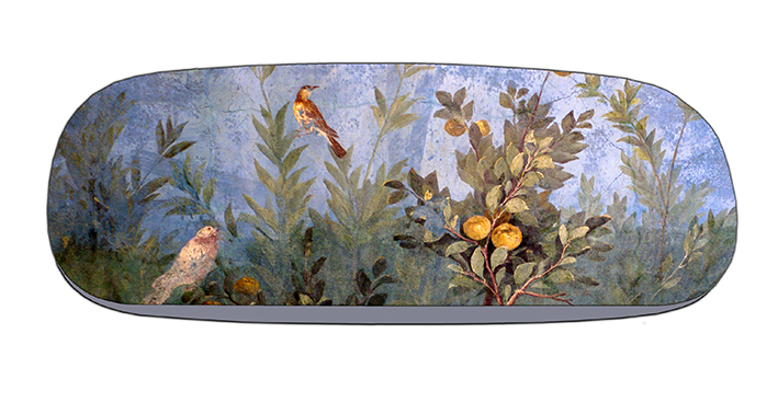 Eyeglasses Case with CC, Fresco Garden with birds