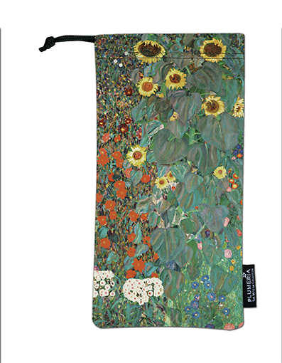 Glasses Pouch, Klimt, Garden with Sunflowers