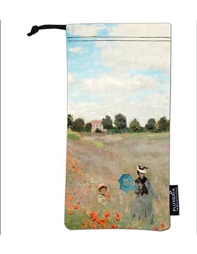 Glasses Pouch, Monet, Poppies near Argenteuil