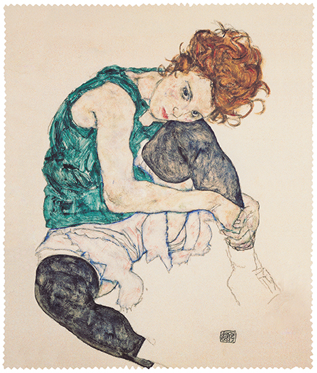Cleaning Cloth, Schiele, Seated Women