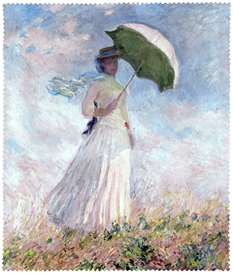 Cleaning Cloth, Monet, Women with Parasol