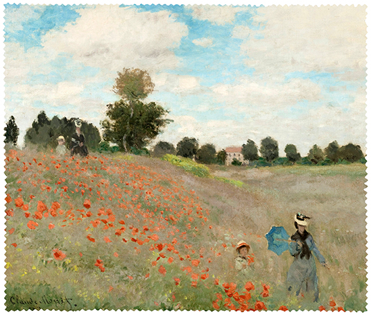 Cleaning Cloth, Monet, Poppies near Argenteuil