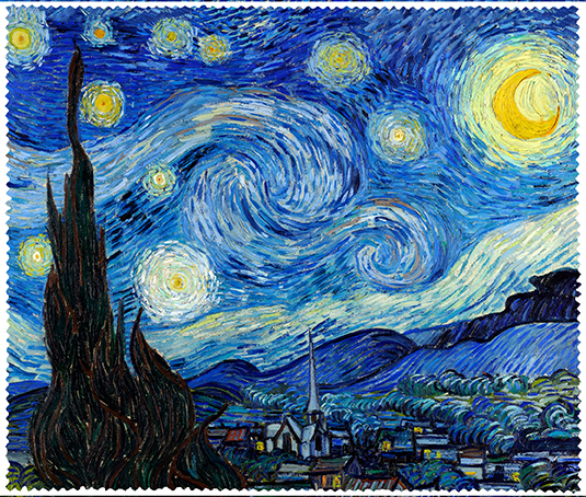 Cleaning Cloth, Van Gogh, Starry Night