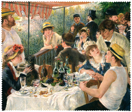 Cleaning Cloth, Renoir, Luncheon at the boating party