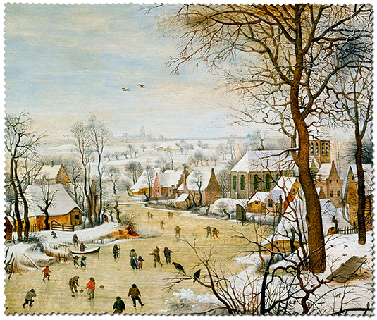 Cleaning Cloth, Bruegel, Winter landscape