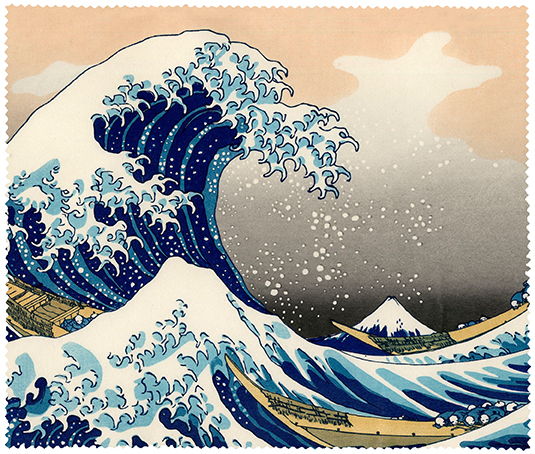 Cleaning Cloth, Hokusai, The Great Wave