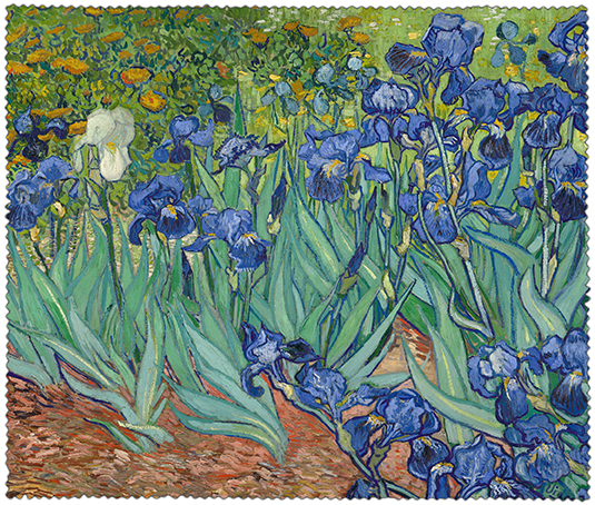 Cleaning Cloth, Van Gogh, Irises