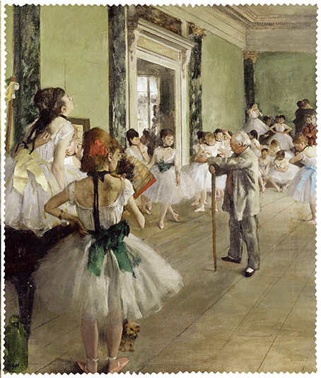 Cleaning Cloth, Degas, Ballet Class