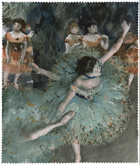Cleaning Cloth, Degas, Green Dancer