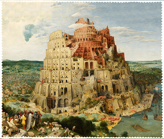 Cleaning Cloth, Bruegel, Tower of Babel