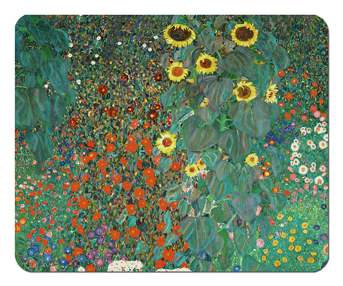 Mousepad, Klimt, Garden with Sunflowers