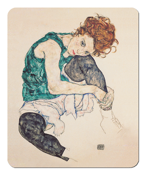 Mousepad, Schiele, Seated Women
