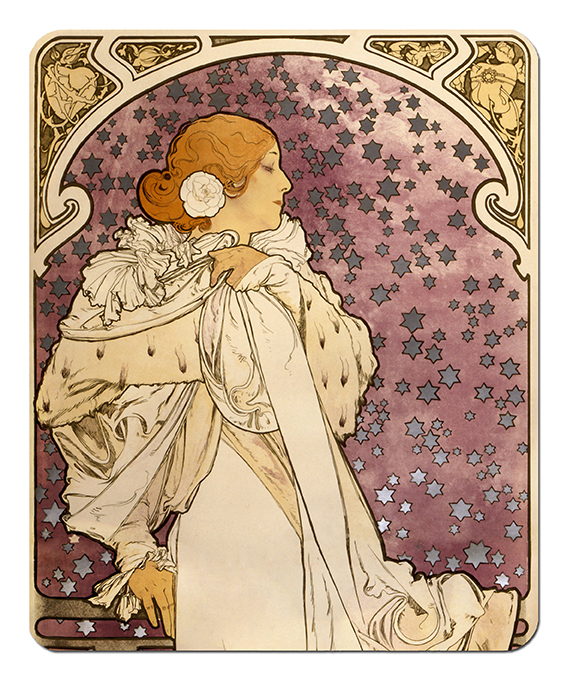 Mousepad, Mucha, La Dame Aux Camelias