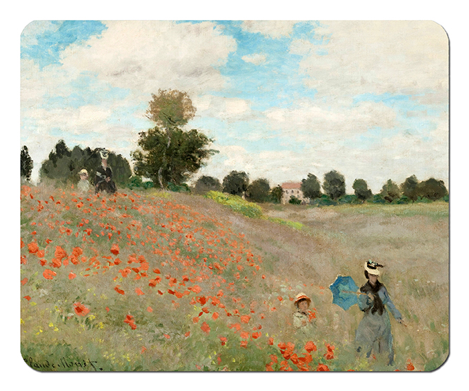 Mousepad, Monet, Poppies near Argenteuil