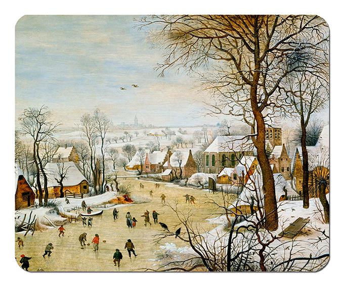 Mousepad, Bruegel, Winterlandscape