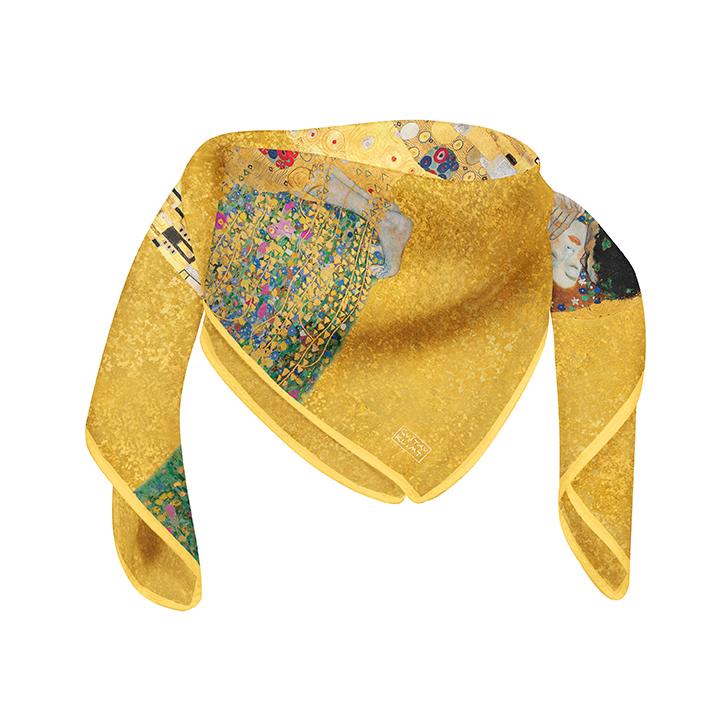 Square, Klimt, The Kiss, 90x90cm, 100% Silk