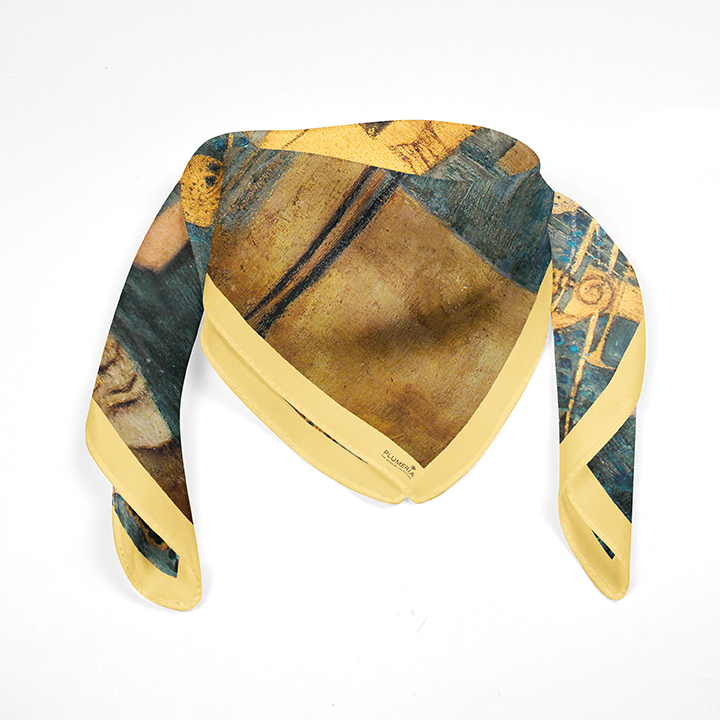 Square, Klimt, Music, 90x90cm, 100% Silk