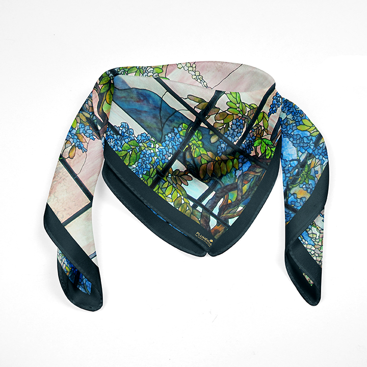Square, Tiffany, Oyster Bay, 90x90cm, 100% Silk