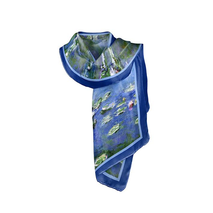 Scarf, Monet, Waterlilies, 40x160cm, 100% Silk