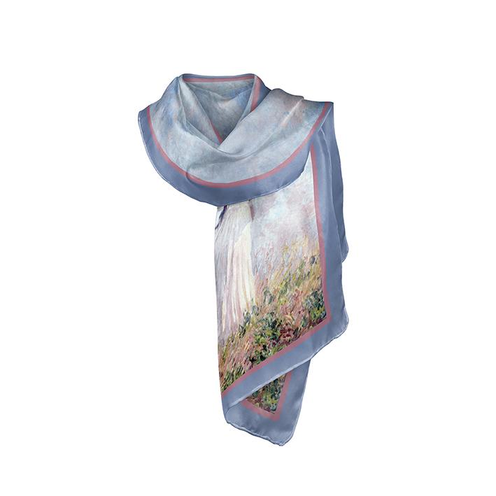 Scarf, Monet, Women with Parasol, 40x160cm, 100% Silk