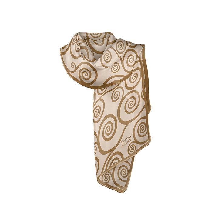 Scarf, Klimt, Ornaments Gold, 40x160cm, 100% Silk