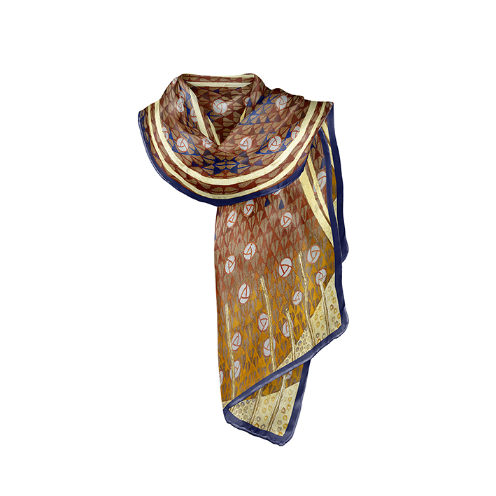 Scarf, Klimt, Beethoven Frieze, 40x160cm, 100% Silk