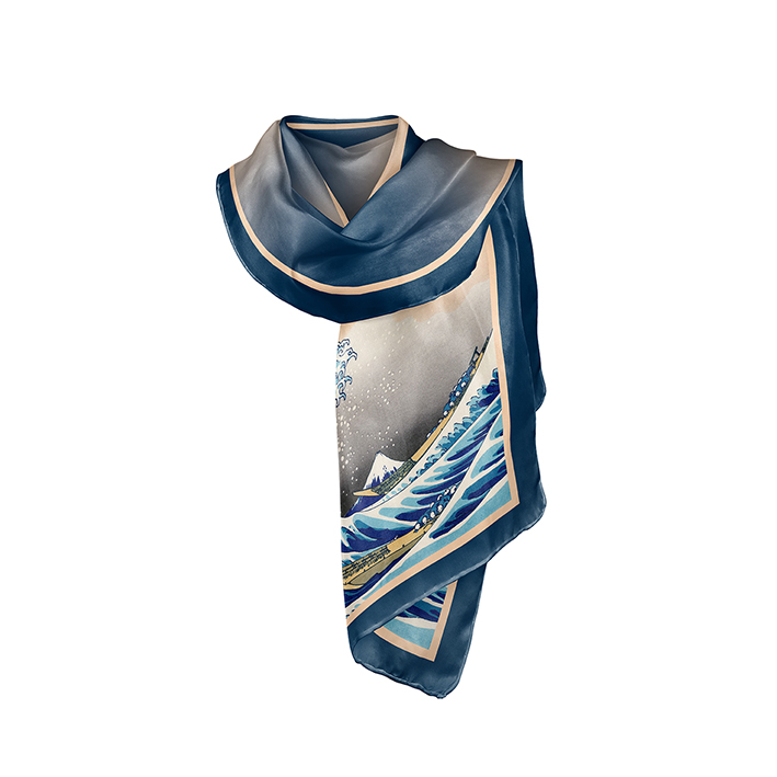Scarf, Hokusai, The Great Wave, 40x160cm, 100% Silk