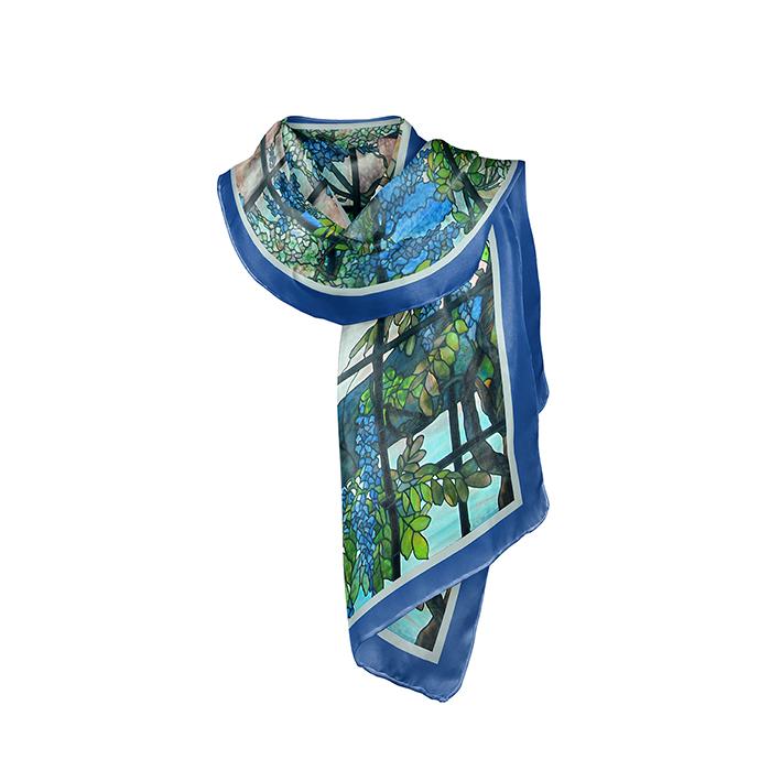 Scarf, Tiffany, Oyster Bay, 40x160cm, 100% Silk