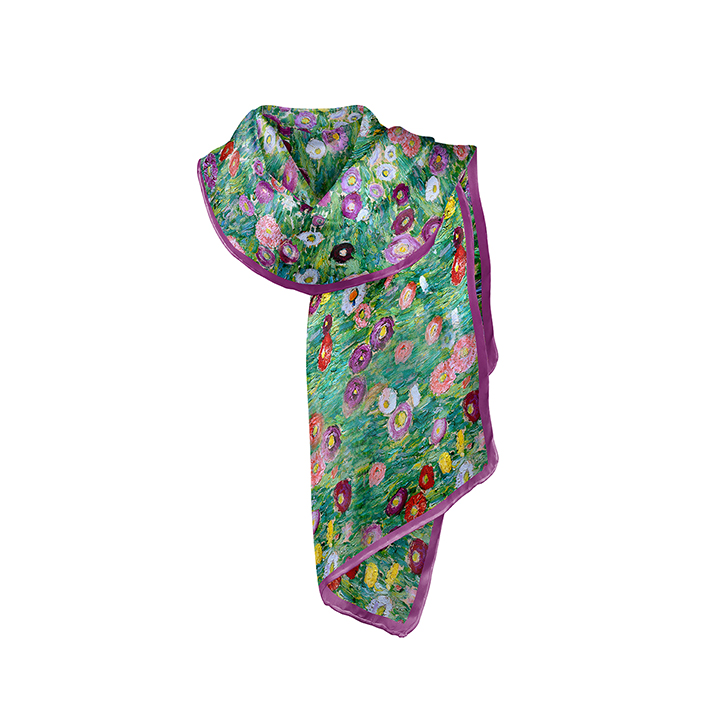 Scarf, Klimt, Apple Tree, 40x160cm, 100% Silk