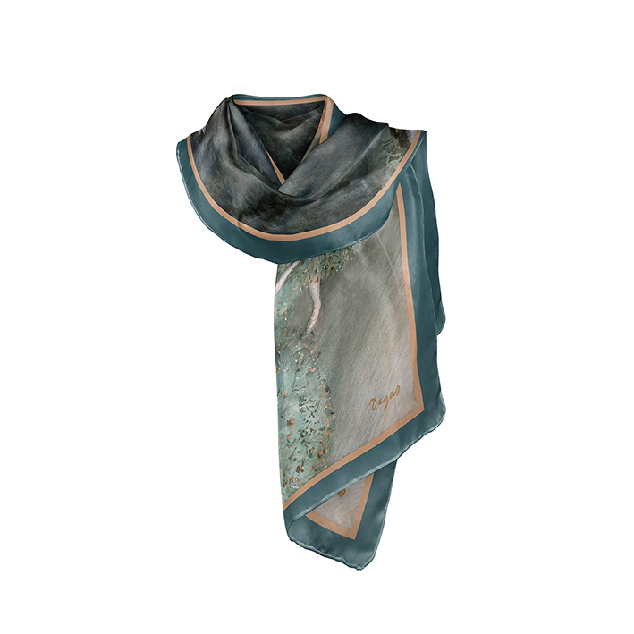 Scarf, Degas, Green Dancer, 40x160cm, 100% Silk