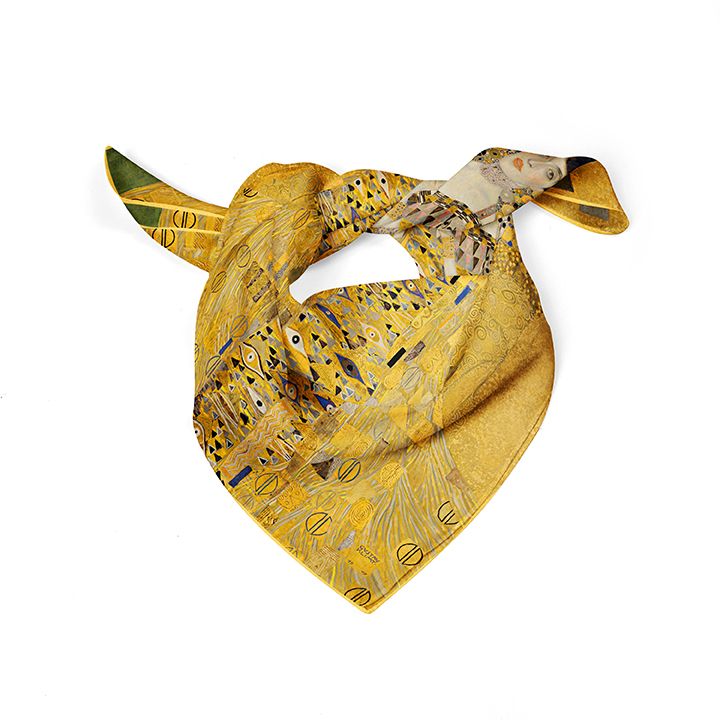 Square, Klimt, Adele, 52x52cm, 100% Silk