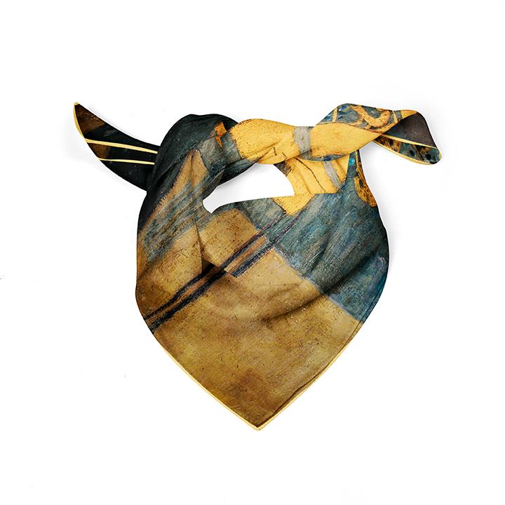 Square, Klimt, Music, 52x52cm, 100% Silk