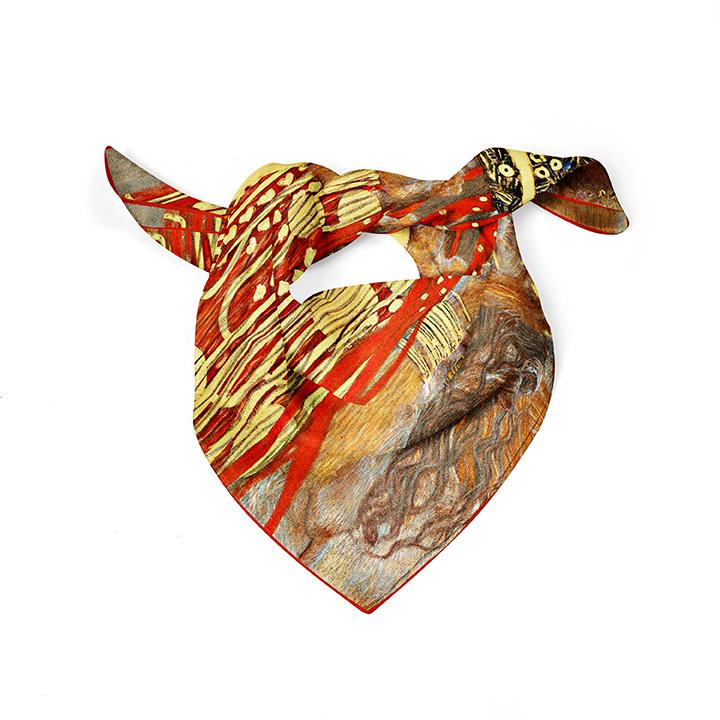 Square, Klimt, Hygieia, 52x52cm, 100% Silk