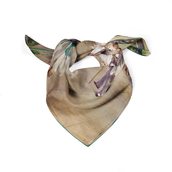 Square, Degas, Ballet Class, 52x52cm, 100% Silk
