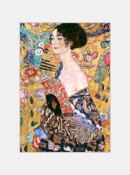 Passe Partout, Klimt, Women with Fan, 39x29cm