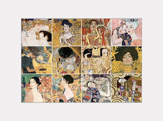 Passe Partout, Klimt, Mix, 39x29cm