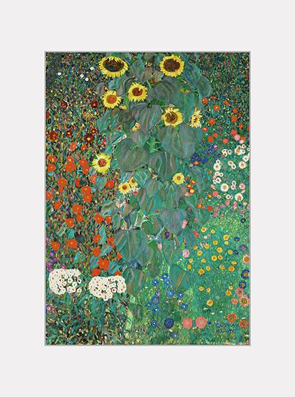 Passe Partout, Klimt, Garden with Sunflowers, 39x29cm
