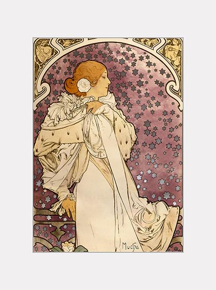 Passe Partout, Mucha, La Dame aux Camelias, 39x29cm