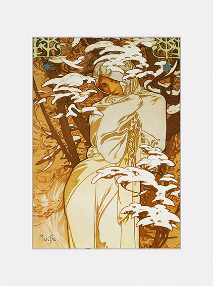 Passe Partout, Mucha, Winter, 39x29cm