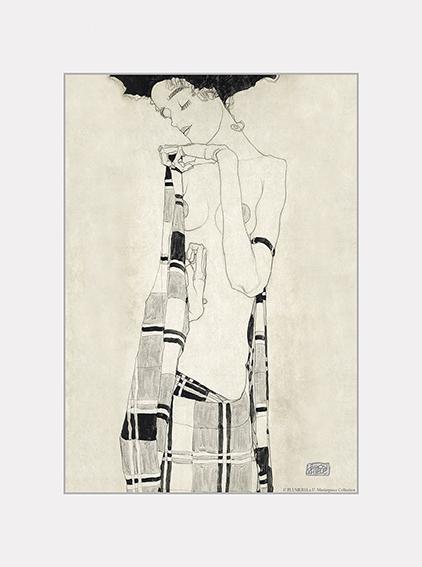 Passe Partout, Schiele, Stationary girl, 39x29cm