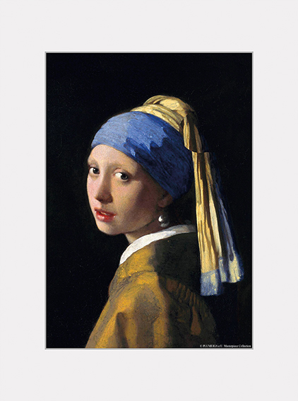 Passe Partout, Vermeer, Girl with the Pearl Earring, 39x29cm
