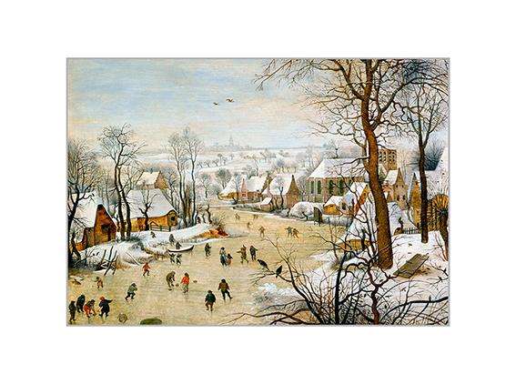 Passe Partout, Bruegel, Winter landscape, 39x29cm