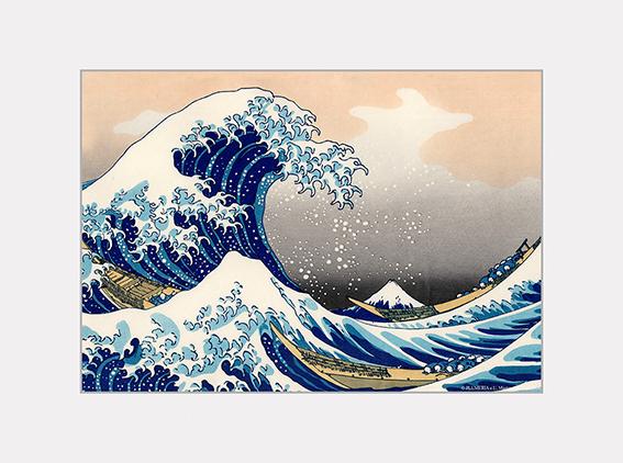 Passe Partout, Hokusai, Great Wave, 39x29cm