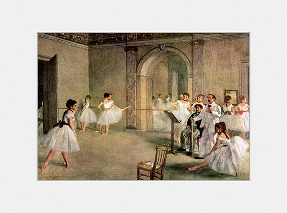 Passe Partout, Degas, Foyer, 39x29cm