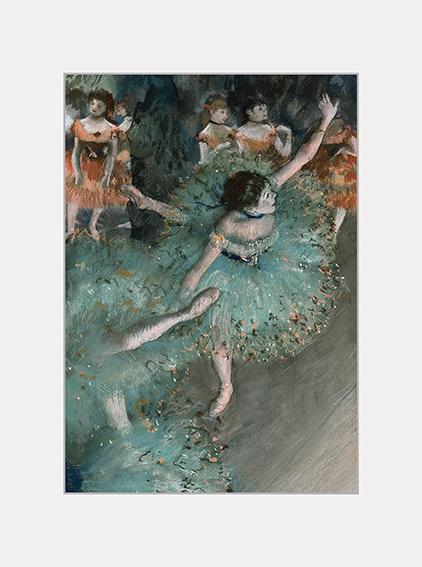 Passe Partout, Degas, Green Dancer, 39x29cm