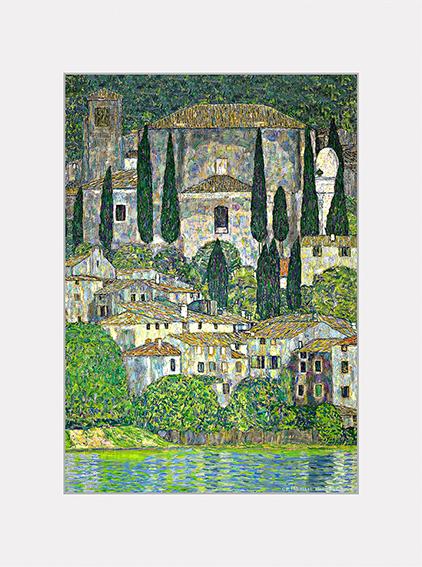 Passe Partout, Klimt, Church in Cassone, 39x29cm
