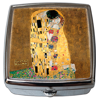 Pill-Box Square, Klimt, The Kiss, 54x58x18mm